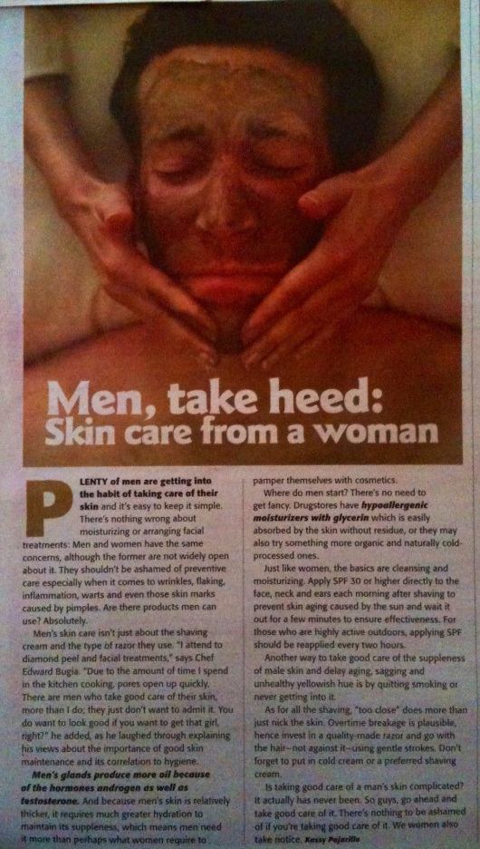 Men, take heed: Skin care from a woman